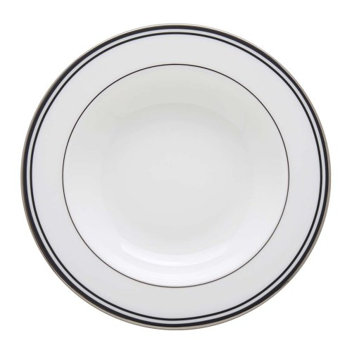 Lenox Federal Platinum Pasta Bowl/Rim Soup, Black Lenox Federal Platinum Chocolate