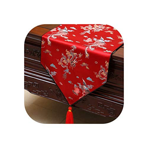 Wenzi-day Table Runner Bed Flag Tablecloth Table Runners Bed Flag Home Decoration,33x150cm,012 -