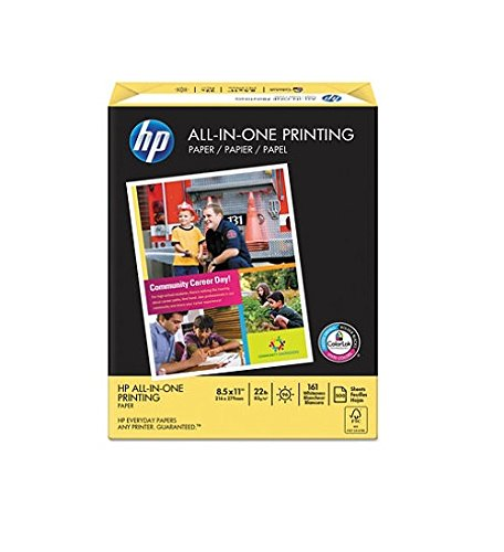 HP Paper, All-in-One Printing Paper Poly Wrap, 22 lb, 8.5 x 11, Letter, 96 Bright,  500 Sheets / 1 Ream (207010) Made In The USA