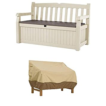 Surprising Keter Eden 70 Gal All Weather Outdoor Patio Storage Bench Deck Box With Bench Cover Durable And Water Resistant Patio Set Cover Creativecarmelina Interior Chair Design Creativecarmelinacom