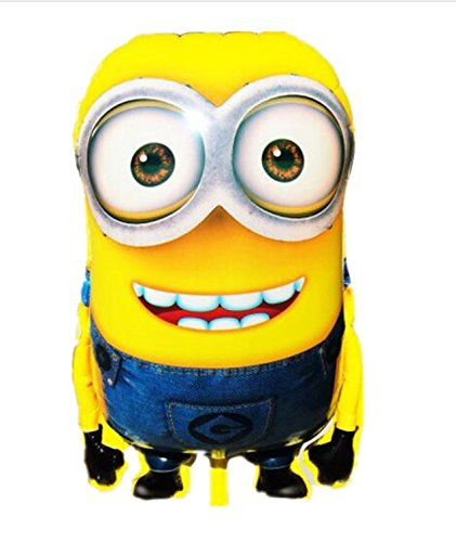 1pcs 92*65cm Hot Sale Minions Inflatable Balloons Despicable Me 2 Large Size Foil Balloons Cartoon Kids Classic Toys -