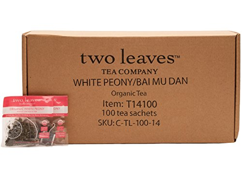 Two Leaves and a Bud Organic Bai Mu Dan White Tea, 100-Count by Two Leaves and a Bud
