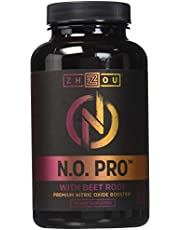 Zhou Nutrition Nitric Oxide with L-arginine Citrulline Malate Aakg and Beet Root Muscle Support for Endurance, 120 Count