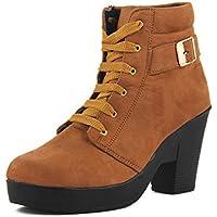 ABJ Fashion HIGH Heel Boot for Women TAN