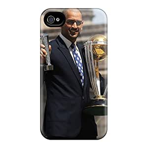 Protective Tpu Case With Fashion Design For Iphone 4/4s (dhoni With World Cup)