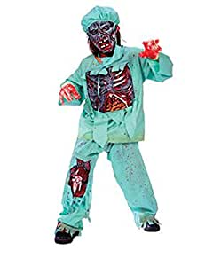 Zombie Doctor Child Halloween Costume Size 4-6