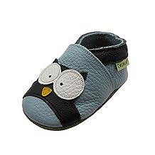 Sayoyo Baby Owl Soft Sole Leather Infant Toddler Prewalker Shoes