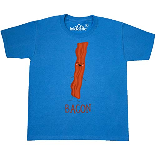 inktastic - Bacon Costume Youth T-Shirt Youth Medium (10-12) Pacific Blue 31d09 ()