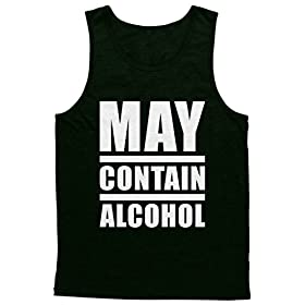 Blittzen Mens Tank Top May Contain Alcohol