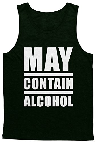(Blittzen Mens Tank May Contain Alcohol, L, Black)