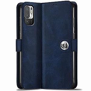 TheGiftKart Genuine Leather Finish Poco M3 PRO 5G Flip Back Cover | Inbuilt Pockets & Stand | Wallet Style | Designer…
