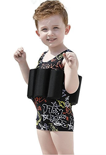 2f4cdd225e SKY-ST Baby Kids Floatation Suit Float One-Piece Swimwear Buoyancy for Girls  Boys