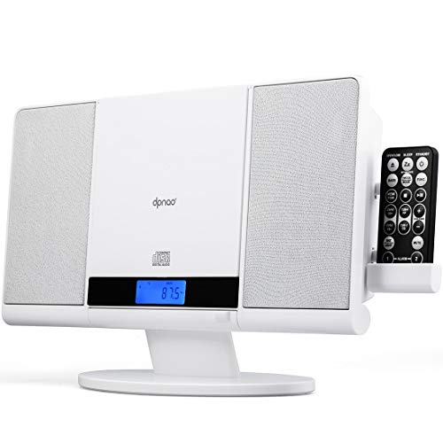 DPNAO CD Player Stereo System Slim Boombox USB SD FM Radio Clock Aux-in and Headphone Jack