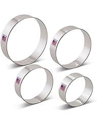 Circle / Round / Biscuit Cookie Cutter Set - 4 piece - 2.5, 3, 3.5, 4 - Ann Clark - US Tin Plated Steel