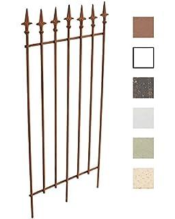 CLP Reja De Metal Mangold Decorativa I Soporte para Plantas Enredaderas Estilo Rustico I Reja De Jardín con 115cm De Altura I Color: Marrón Envejecido: Amazon.es: Jardín