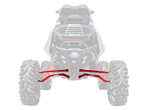 (SuperATV Heavy Duty High Clearance Boxed Rear Radius Arms for Polaris RZR RS1 (2018+) - RED)