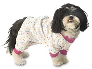 PetRageous My Favorite Jammies with Violet Trim for Pets, Medium
