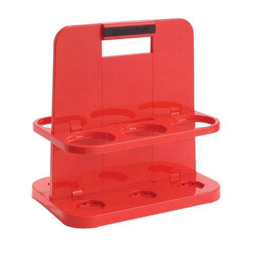 FDS-300108 Fluid Defense Systems Cartridge Caddy - GREASE SAFE - Red