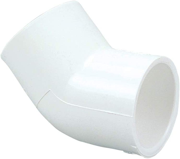 Schedule 40 Spears 417 Series PVC Pipe Fitting 45 Degree Elbow 2 Socket
