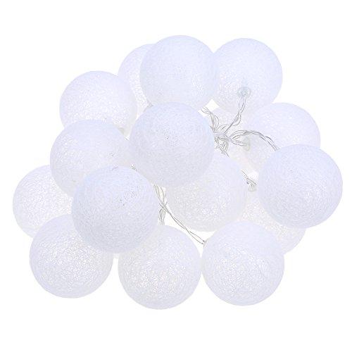 20pcs créatifs Coton boule à LED lumières de corde F ¨ ¹ R Décoration