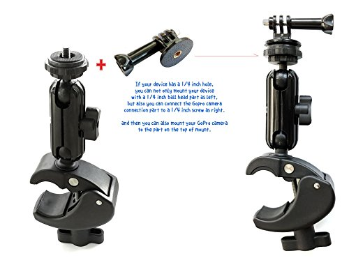 C-shaped clamp type mount/Easy mounting on round pipe part/compatible mounting Go Pro and common camera by 2 types of mounting parts by Top Mount