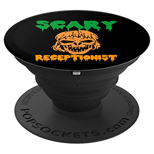 Scary Receptionist Halloween Gift - PopSockets Grip and Stand for Phones and Tablets -