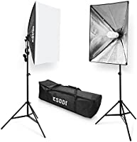 ESDDI Softbox Photography Lighting Kit 20 x 28 inch with 800W and 5500K Soft Lights, Continuous Lighting for Portraits...