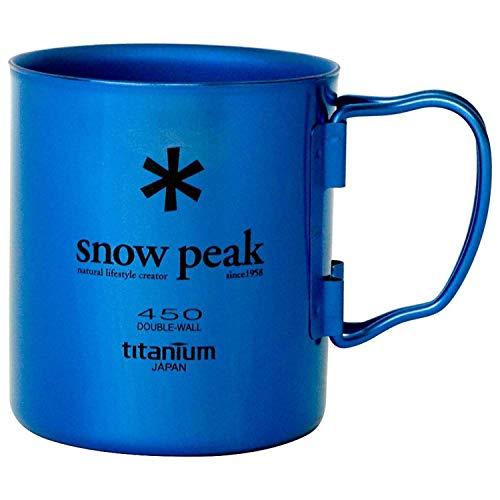 (Snow Peak Titanium Double Wall Cup Blue 450ml)