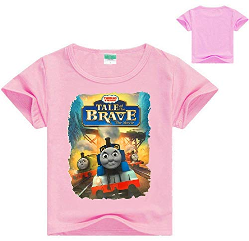 (Boys Girls Thomas and Friends Tale of The Brave T-Shirt Kids Short Sleeve Tee for 3T-13(Pink, 4T))
