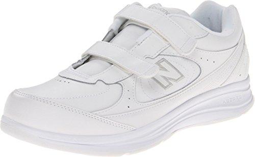 (ニューバランス) New Balance レディースウォーキングシューズ?靴 WW577 Hook and Loop White 7 (24cm) 2A - Narrow