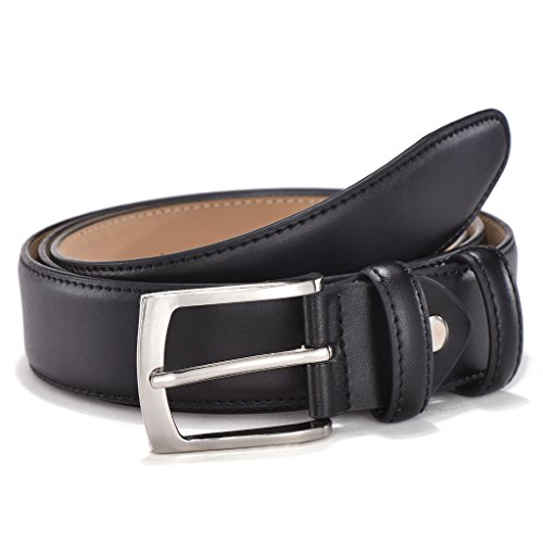 Men's Classic Dress Genuine Leather Belt - Single Buckle with Gift Box by Melrtrich(42, (Work Box Company)