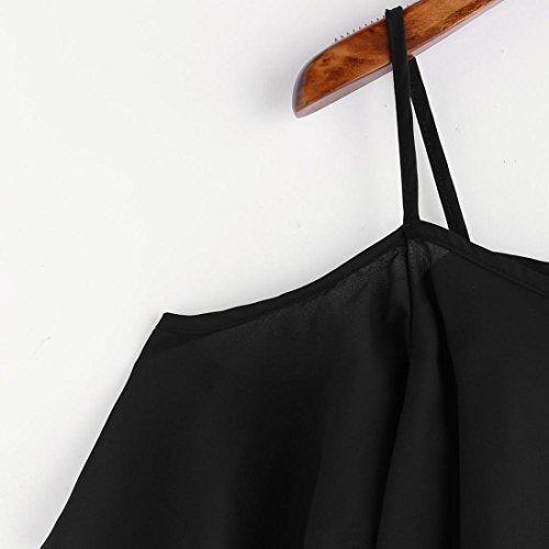Tefamore Shoulder Top Summer ❤️Femmes Pinstripe Cold Blouse Noir YR8IO