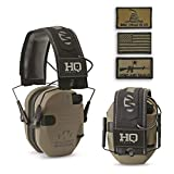 HQ Issue Walker's Patriot Series Electronic Ear Muffs, Flat Dark Earth