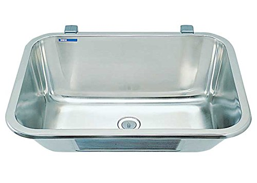 Intra VK60STD Stainless Steel Utility Sink with One Bowl for Wall Mounting...