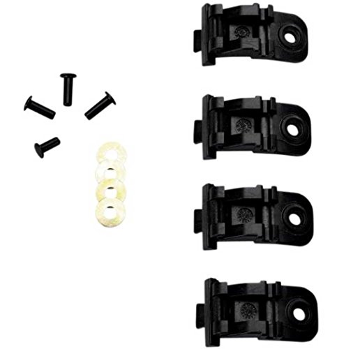 - Alpinestars Tech 10/Tech 6 Buckle Base Set - Buckle Base/Black