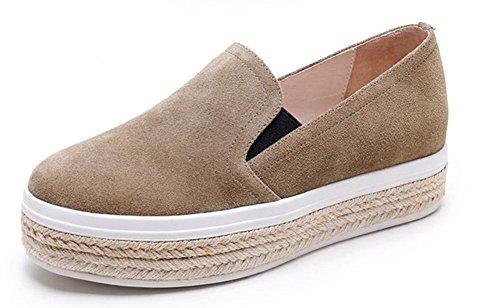 d'automne pin croûte pour chaussures chaussures simples la sport Brown chaussures chaussures de Spring femmes de épais et Mme gâteau d'ascenseur Mme FqX7pF