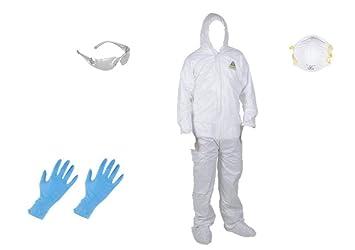 Mono de pintura microporosa para traje desechable blanco con ...