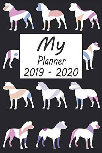 - My Planner 2019 - 2020: Pitbull Dog Pattern Black Weekly Planner 2019 - 2020: 24 Month Agenda - Calendar, Organizer, Notes, Goals & To Do Lists