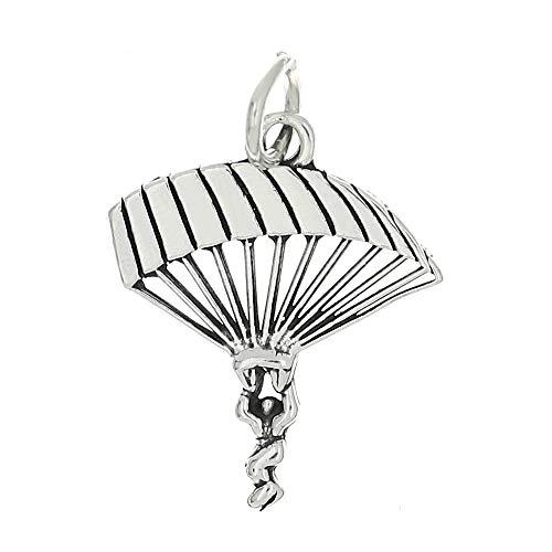 Lgu Sterling Silver Skydiving Parachute para Sailer Charm -