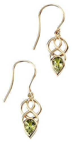 Elements Gold femme    Plaqué or Poire   Vert Peridot