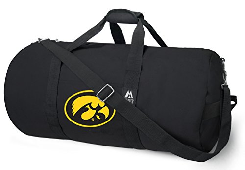 Broad Bay OFFICIAL Iowa Hawkeyes Duffle Bag or University of Iowa Gym Bags Suitcases by Broad Bay (Image #6)