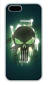 iPhone 5 5S Case Skull 02 PC Custom iPhone 5 5S Case Cover White