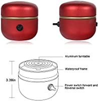 KKTECT Mini Pottery Wheel,Machine Electric Turntable Fingertip 1500RPM with Tray,for Accompanying Gifts,DIY Clay Work Red School Teaching or Home use