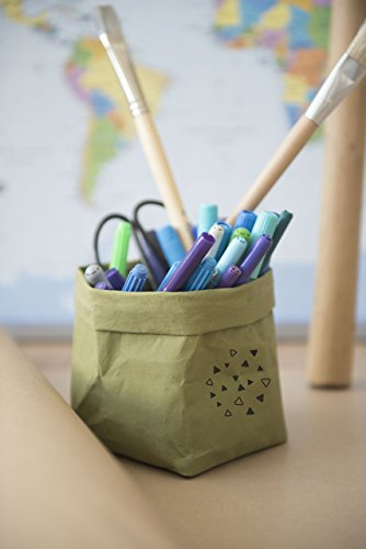 Small Colors Pencils Pens Holder, Lego Storage, Art Supply Craft Box, Washable Paper Bag from MESS-studio