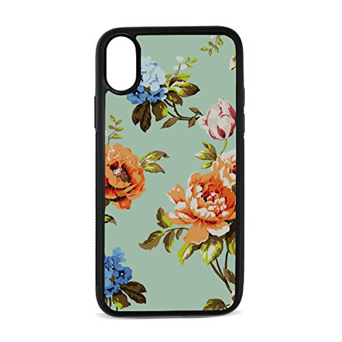 (Case for iPhone Beautiful Bouquets Vintage Roses Flowers Love Digital Print TPU Pc Pearl Plate Cover Phone Hard Case Cell Phone Accessories Compatible with Protective Apple Iphonex/xsCase 5.8 Inch)