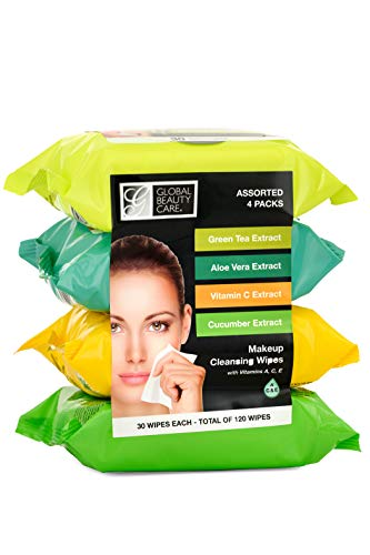 Makeup Cleansing Wipes- GreenTea/ AloeVera/ VitaminC/ Cucumber