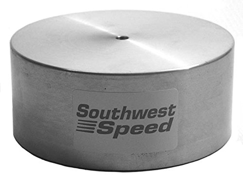 NEW SOUTHWEST SPEED RACING ALUMINUM CARBURETOR COVER WITH O-RING SEAL, FITS DEMON, HOLLEY 4150, HOLLEY 4160, THERMOQUAD, QUADRAJET, AND OTHER CARBS WITH A 5 1/8