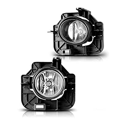 Fog Lights Assembly For 2007-2009 Nissan Altima (Not fit Coupe Model) With Clear Lens 2PCS OEM Fog Lamps Replacement AUTOWIKI: Automotive
