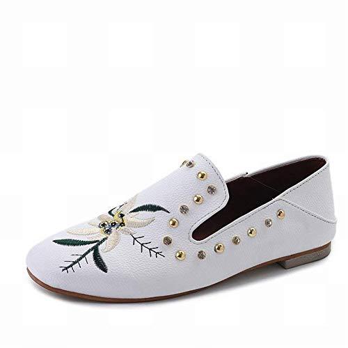 di Ricamo Indossare strass Le Colorato Bianco Due in Studente Taglia per Pantofola scarpe con Nero piatta moda Baotou one All Oudan personalità 39 8xIfwPqU