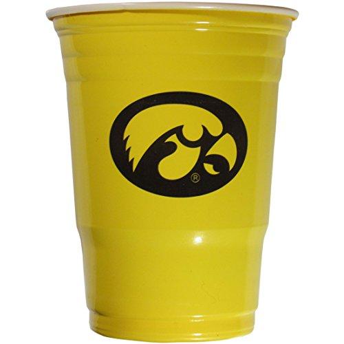 NCAA Iowa Hawkeyes Game Day Cups, 18-Ounce, Sleeve of 18 (Iowa Hawkeyes Ncaa Beverage)